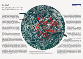 """Flyer """"Mitte! - 150 Jahre Transformation des Berliner Stadtkerns 1865-2015"""""""